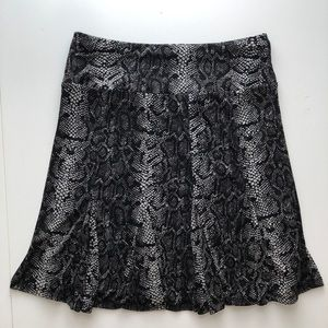 INC International Concepts Skirts - Snake Print Flare Skirt